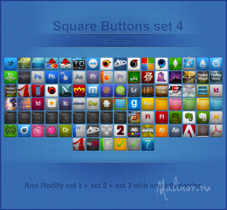 Square Buttons by Ampeross