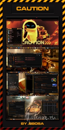 CAUTION WINDOWS 7 THEMES