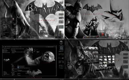 Windows Seven Theme Batman: Arkham City for CTX