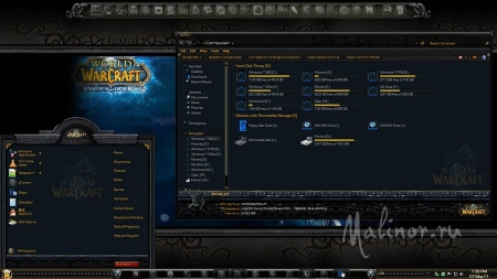 World of Warcraft theme for Windows 7
