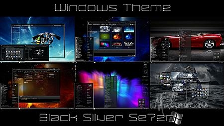 Windows 7 Themes: Black Silver Se7en for CTX by Tiger2012