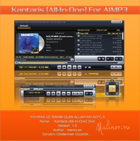 Kantaris All-In-One Skin for AIMP3 Player