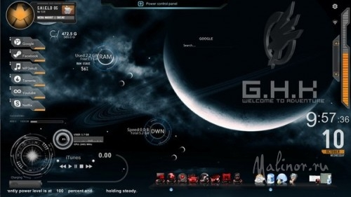 Space theme for Windows 7