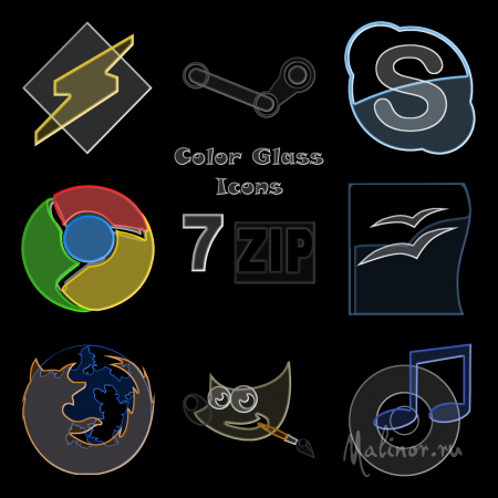 Color Glass Icons