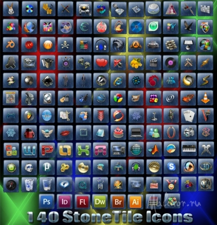 Stone Tile Icons Pack