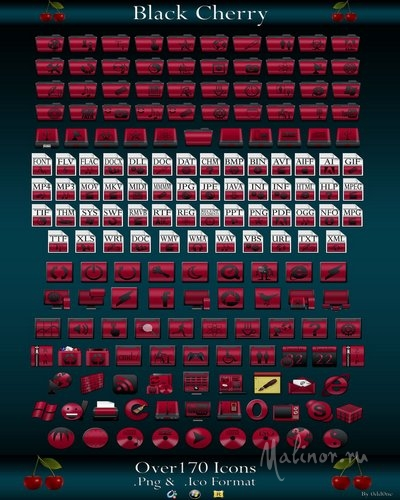 Black Cherry Icons Pack