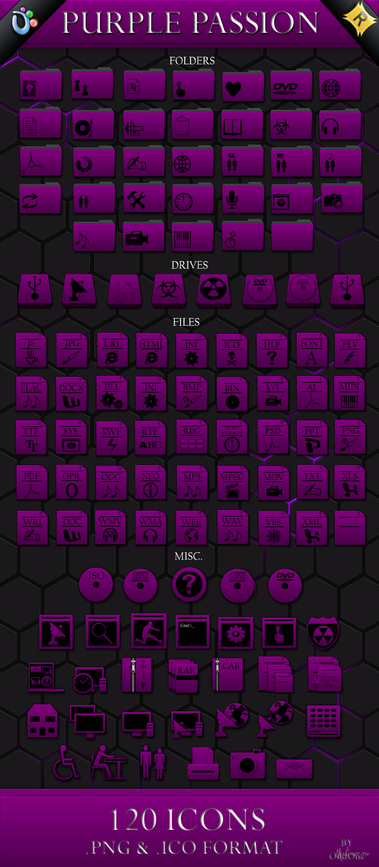 Purple Passion Icons Pack