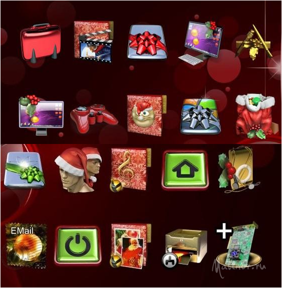 Xmas OHMY Iconpackager