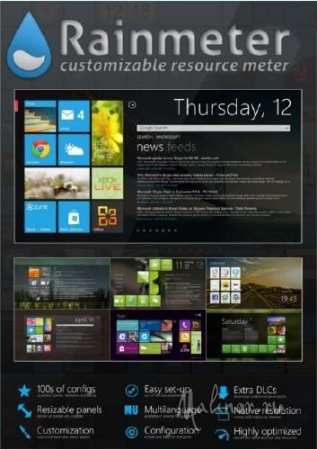 Rainmeter 2.5 final (2013) PC+ видеоинструкция