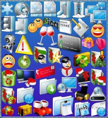 Winter holiday Icons Pack