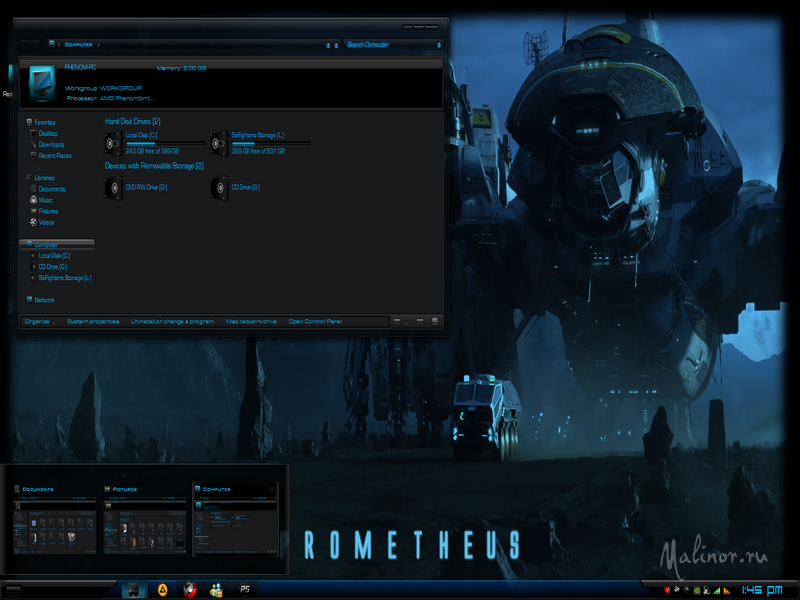 Prometheus REvisioned - Тема для Windows 8