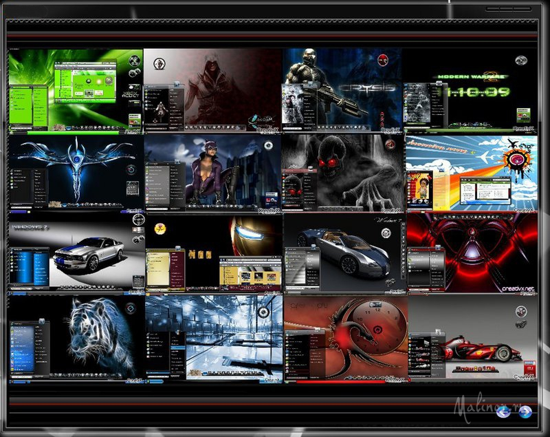Mega Collection of themes for Windows 7
