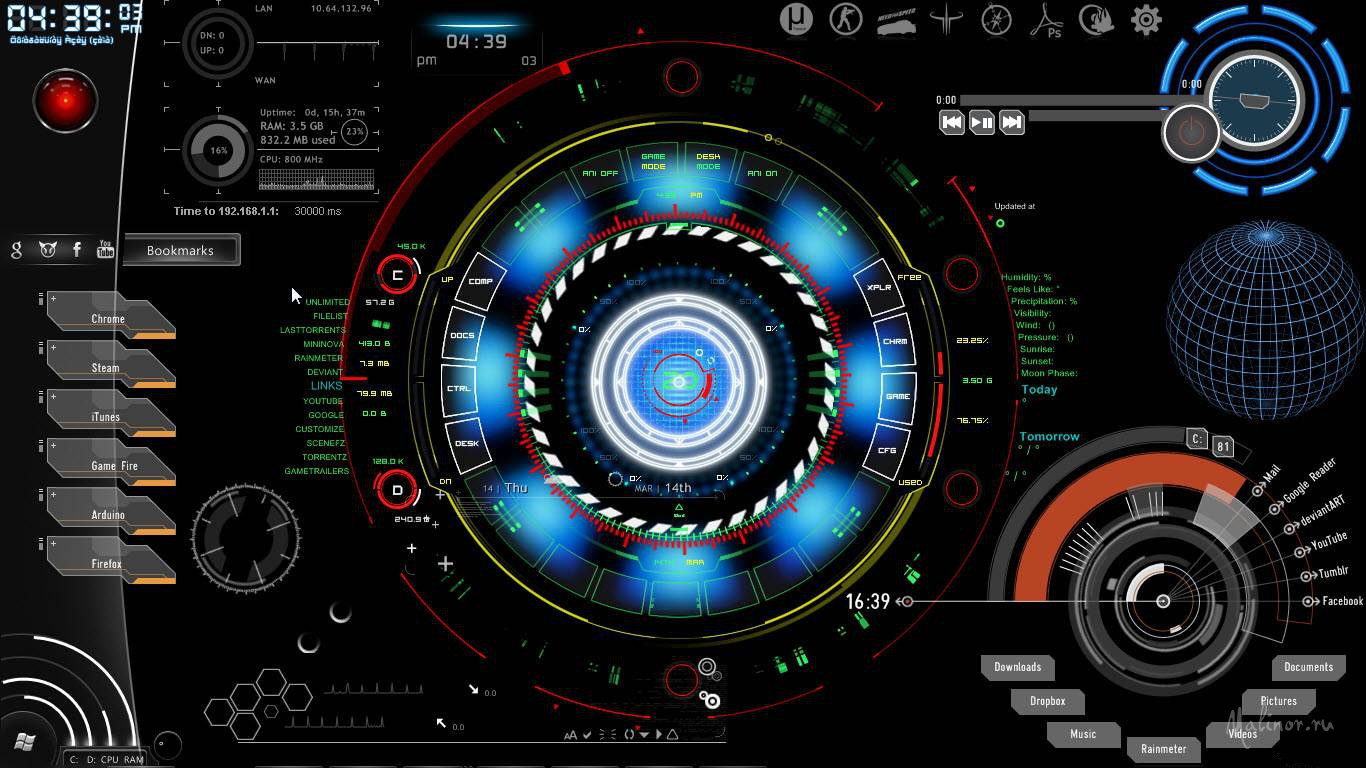 Iron Man Reactor Rainmeter
