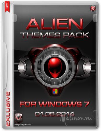 Alien Themes Pack for Windows 7 (01.08.2014)