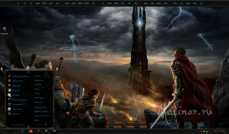 Lord of the Rings: Shadow of Mordor - Тема для Windows 7