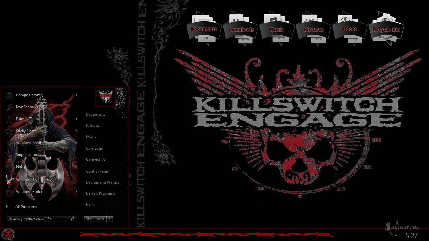KillswitchEngage - Тема для Windows 7