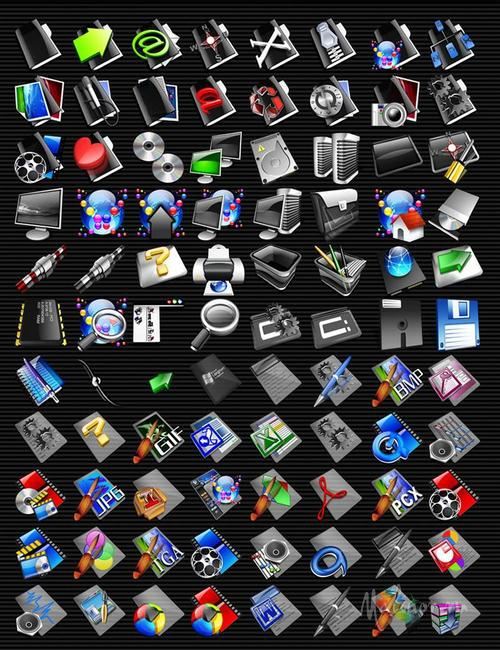 SkyLine Black Iconpackager